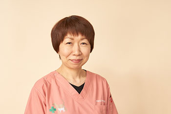 動物看護師 貞清 奈津子